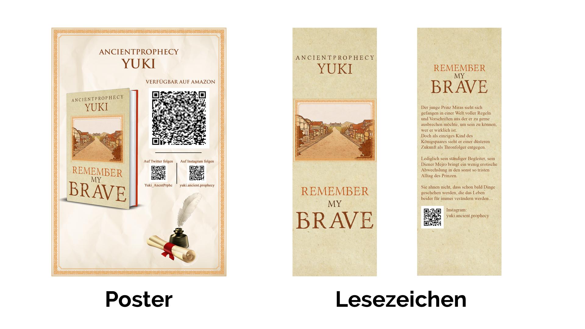 Lesezeichen und Poster für Bücher