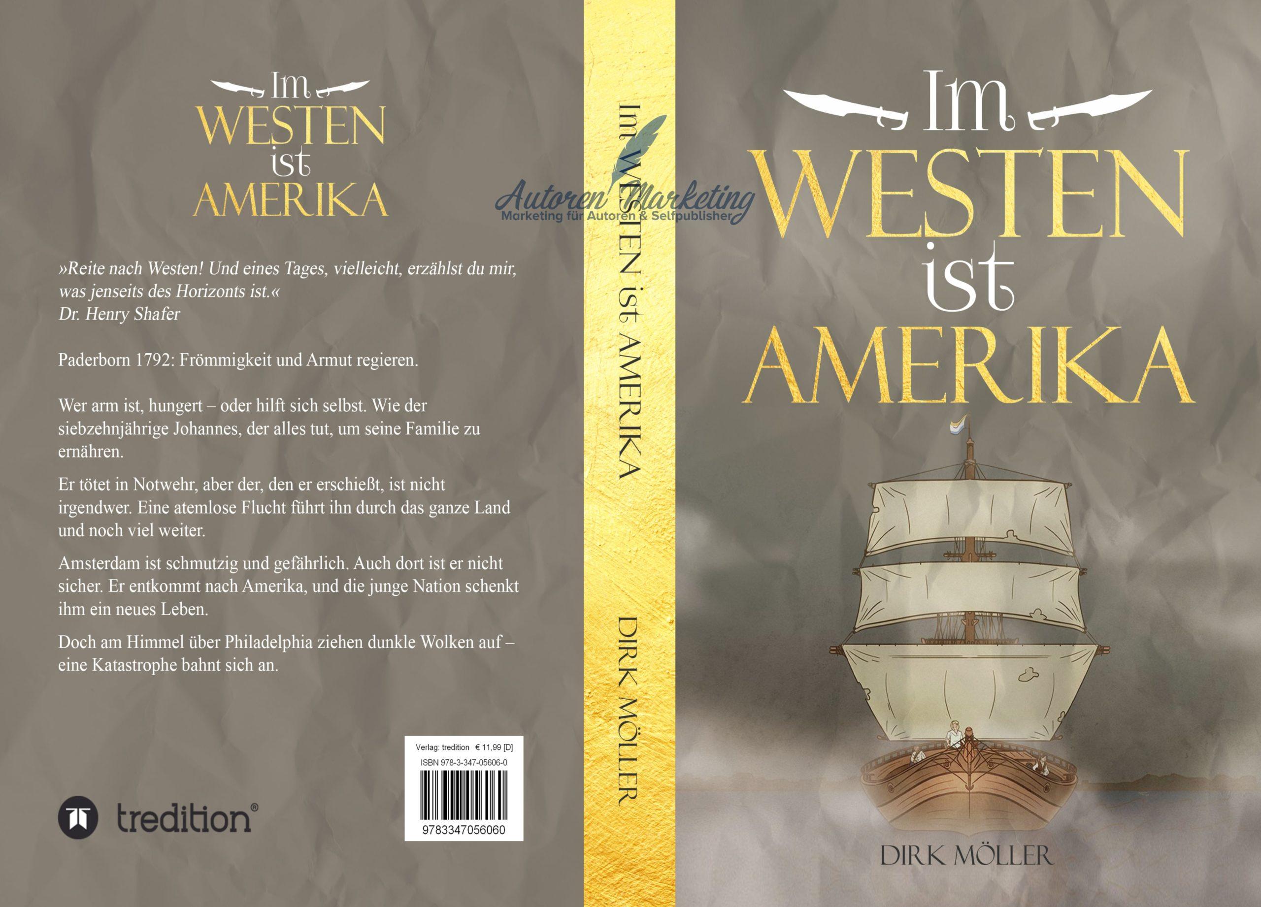 Taschenbuch Cover Design Im Westen ist Amerika
