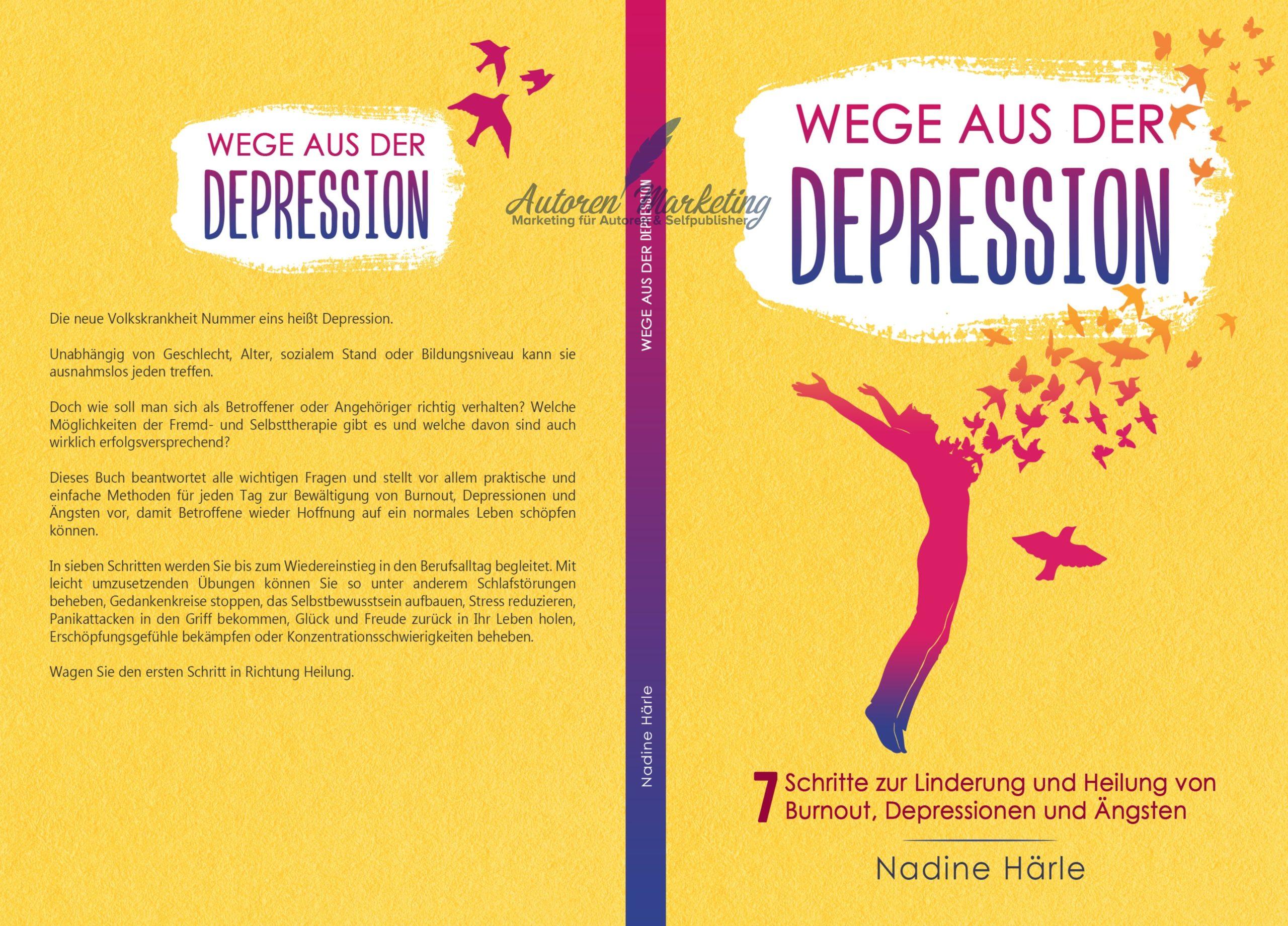 Taschenbuch Umschlag Design Wege aus der Depression